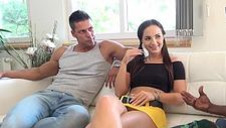 Kristy's interracial double-anal 3-way - video 2