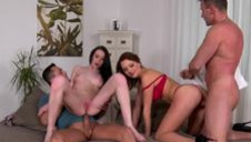 Group banging with naughty rogues - video 2