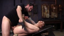 Maledom fists his hogtied slave slut Alexa and fucks her in ass