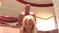 Burly And Ugly Old Man Fucks Busty Stepdaughter In Doggy